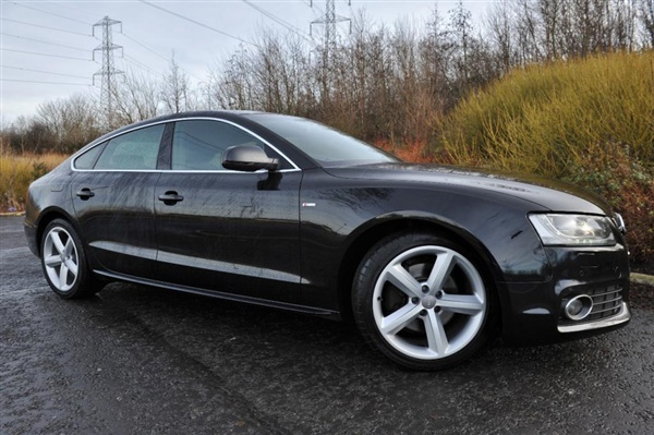 used 2011 audi a5 3 0 sportback tdi quattro s line auto 240 bhp in black for sale in scotland. Black Bedroom Furniture Sets. Home Design Ideas