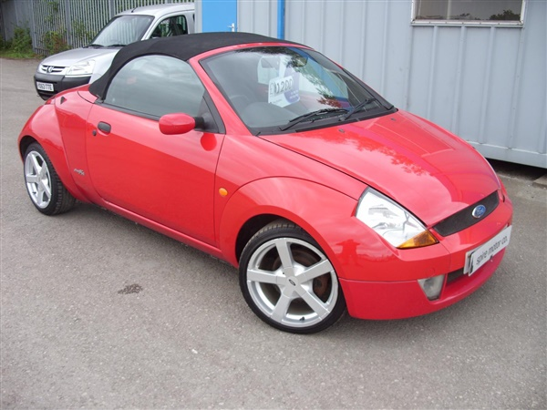 used 2004 petrol ford streetka in red 70 000 miles for sale in chesterfield for 1 200 autovillage. Black Bedroom Furniture Sets. Home Design Ideas