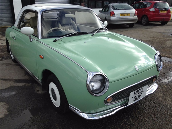 used 2006 petrol nissan figaro in green 56 904 miles for. Black Bedroom Furniture Sets. Home Design Ideas