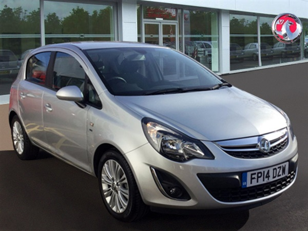used 2014 petrol vauxhall corsa in silver 33 694 miles for. Black Bedroom Furniture Sets. Home Design Ideas